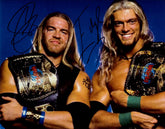 "Highspots - Edge & Christian ""WWF Tag Team Champions*  Hand Signed 8x10 *inc COA*"