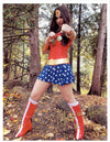 "Highspots - Alicia Atout ""Wonder Woman"" Hand Signed A4 *inc COA*"