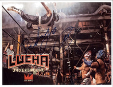 "Lucha Underground - Pentagon Jr. ""Dive"" Autographed A4 Photo *inc COA*"