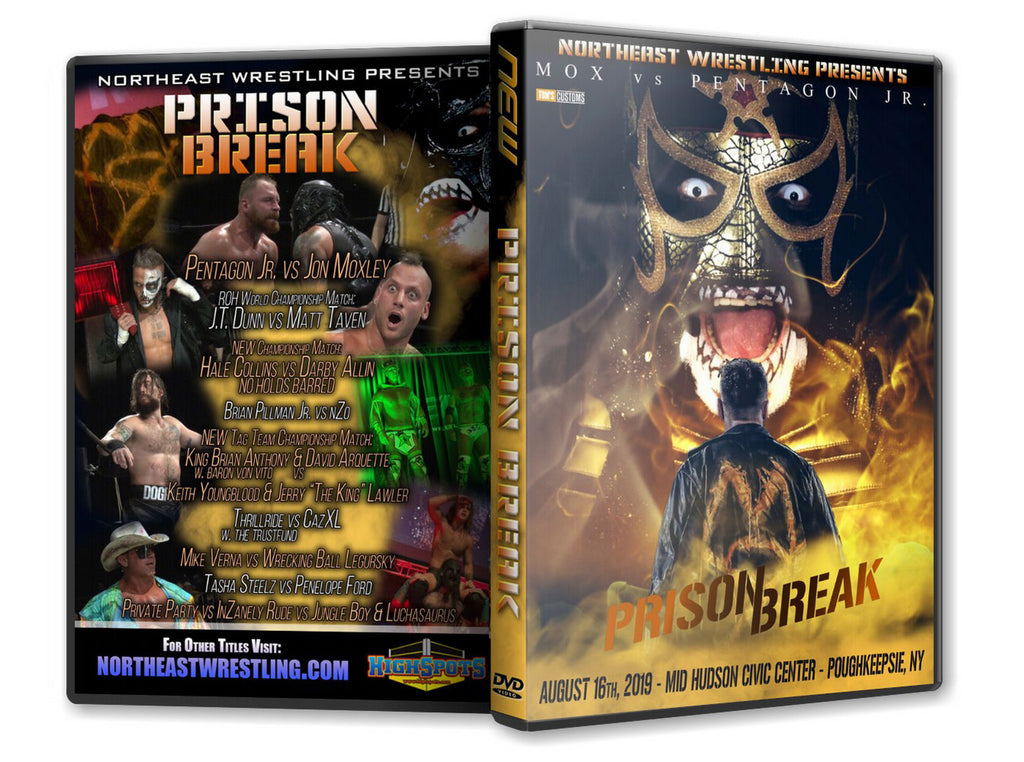 NEW - Prison Break 2019 Event Blu-Ray ( Moxley vs Pentagon Jr )