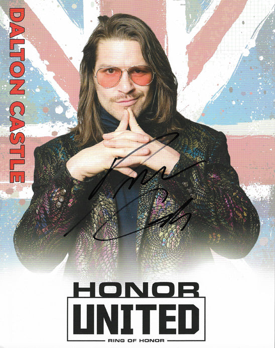 ROH - Dalton Castle Autographed Honor United 2019 8x10