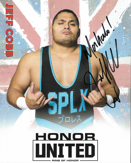 ROH - Jeff Cobb Autographed Honor United 2019 8x10