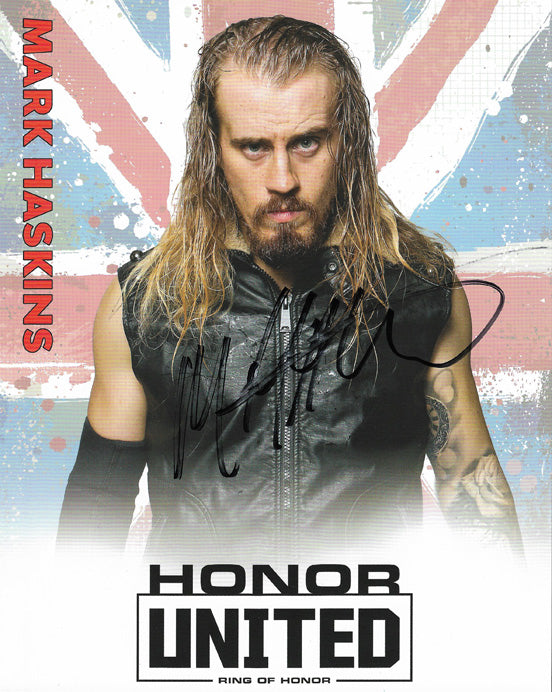 ROH - Mark Haskins Autographed Honor United 2019 8x10