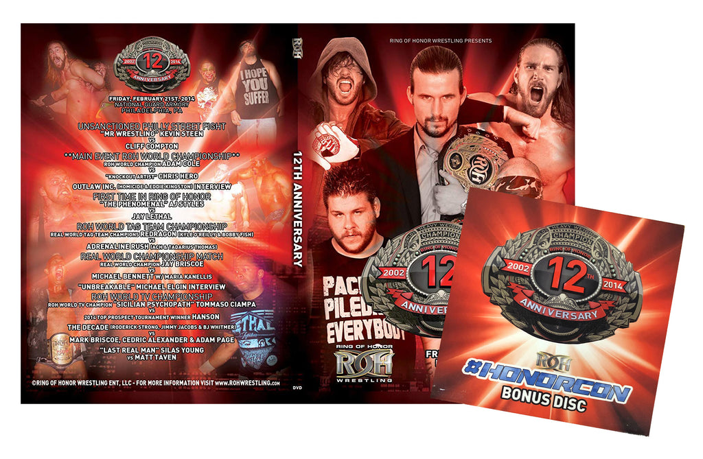 ROH - 12th Anniversary 2014 Event 2 Disc DVD Set ( Pre-Owned )