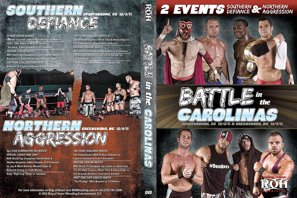 ROH - Battle in the Carolinas 2011 Double Event DVD ( Pre-Owned )