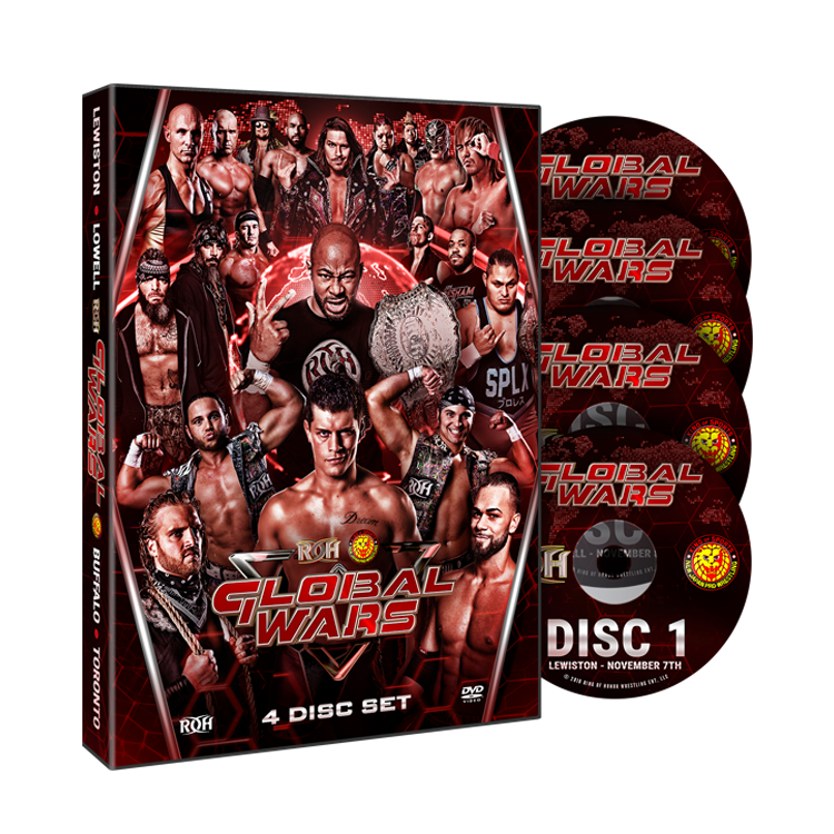ROH - Global Wars 2018 Tour - 4 Event DVD Set *** 1 Disc Missing ***