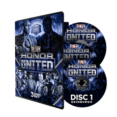 ROH : Honor Re-United UK Tour 2018 - 3 Event DVD Set