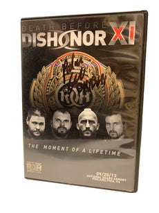 ROH - Death Before Dishonor XI 2013 Event DVD (Pre-Owned) * Signed by Adam Cole *