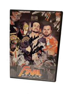 ROH - Final Battle 2013 Event DVD ( Pre-Owned ) * Signed by Adam Cole *