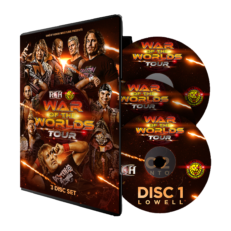ROH : War Of The Worlds Tour 2018 - 3 Event DVD Set