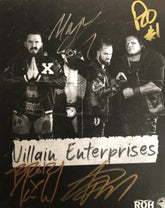 ROH - Villain Enterprises Hand Signed 8x10 (4 Signatures)