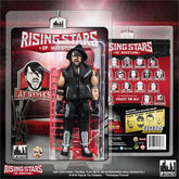 Rising Stars of Wrestling - AJ Styles Action Figure Signed / Autographed