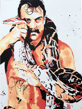 "Rob Schamberger - Jake ""The Snake"" Roberts Hand Signed 24"" x 18"" Poster *inc COA*"