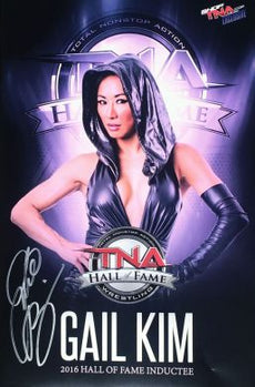 "TNA - Gail Kim Signed Hall Of Fame 11 x 17"" Poster"
