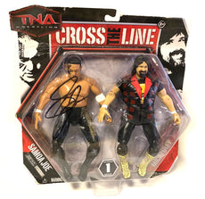 TNA - Signed - Cross the Line Series 1 Samoa Joe & Mick Foley Figures