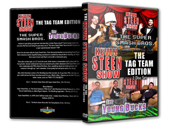 The Kevin Steen Show Tag Team Edition with Young Bucks & More 2 DVD Set