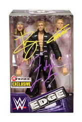 WWE Mattel Elite Ringside Exclusive 3 in 1 Edgeheads (Edge, Hawkins & Ryder) Hand Signed Figure  *Inc COA*