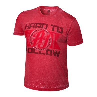 "WWE - AJ Styles ""Hard To Follow"" Acid Wash T-Shirt"