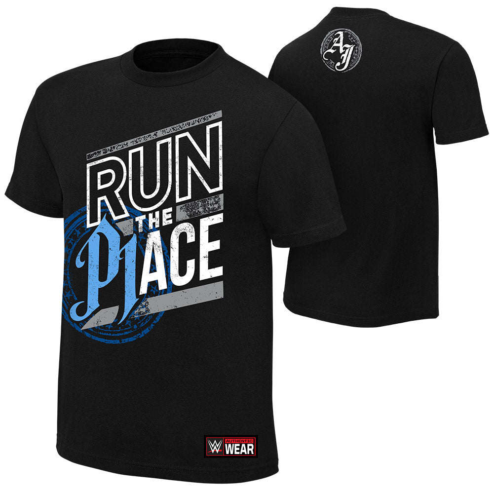 "WWE - AJ Styles ""Run The Place"" Authentic T-Shirt"