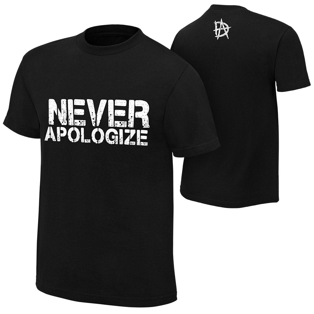 "WWE - Dean Ambrose ""Never Apologize"" Authentic T-Shirt"
