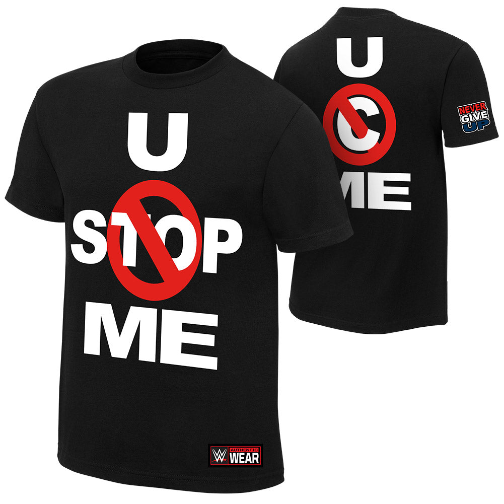 "WWE - John Cena ""U Can't Stop Me"" Black Authentic T-Shirt"