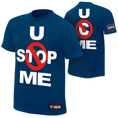 "WWE - John Cena ""U Can't Stop Me"" Navy Authentic T-Shirt"