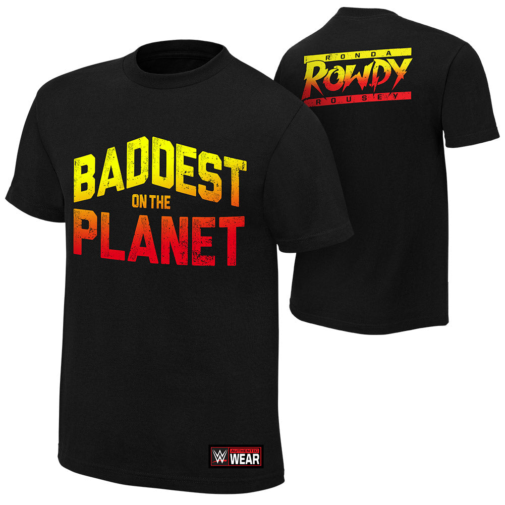 "WWE - Ronda Rousey ""Baddest On The Planet"" Authentic T-Shirt"