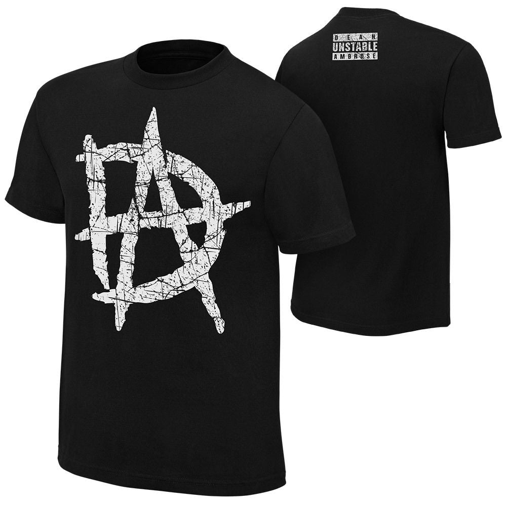 "WWE - Dean Ambrose ""DA Logo"" Authentic T-Shirt"
