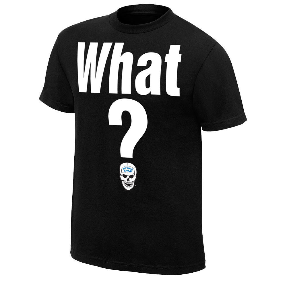 "WWE - Stone Cold Steve Austin ""What?"" Retro T-Shirt"