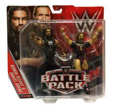 Mattel - WWE Battle Packs Exclusive Toys R Us Roman Reigns & Daniel Bryan Figures
