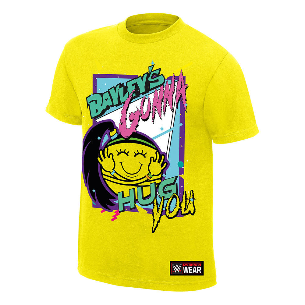 "WWE - Bayley ""Bayley's Gonna Hug You"" Authentic T-Shirt"