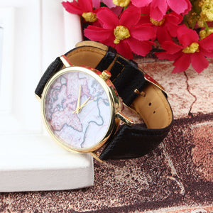 Vintage Earth World Map Watch Alloy Analog Quartz Wrist Watches