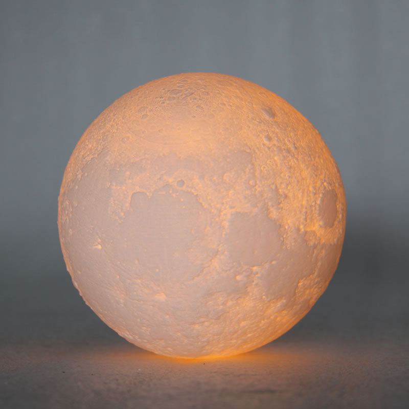 USB Rechargeable 3-D Print Moon Lamp Colors Change Touch Switch