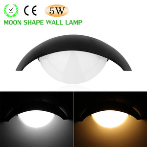 Moon Shape LED Wall Lamp Night Light for Indoor Places
