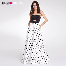 A-line Strapless Polka Dot Printed Dress Ever Pretty Sleeveless Off Shoulder