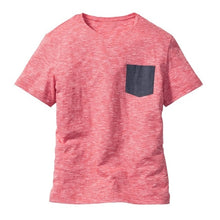 Fashion Men T-shirt Summer Brand Short Sleeve Round Neck Basic Tee Shirt Youth Man Color Block T-shirts With Pockets