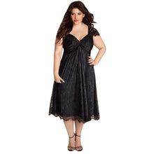 Plus Size Women Sleeveless Lace Party Dress