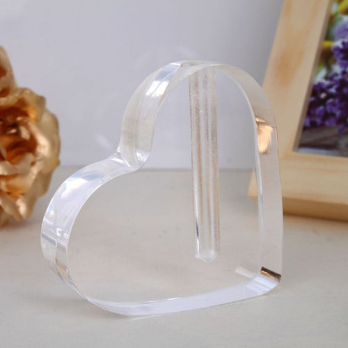 Transparent Acrylic Heart Shaped Display Stand Vase for Gold Foil Rose Flower