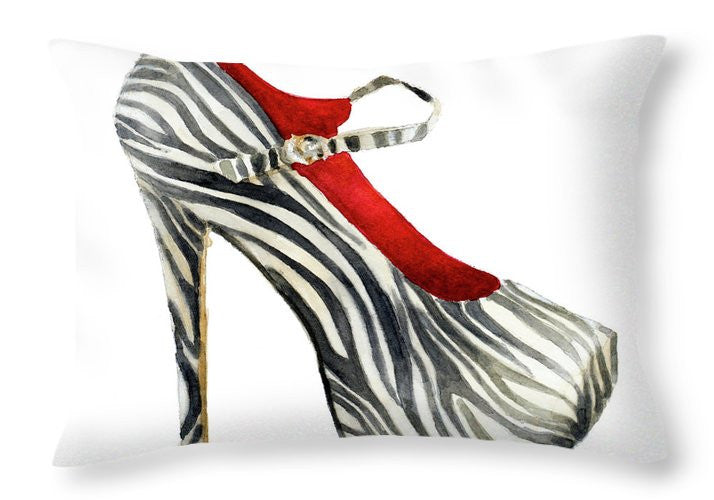 Animal Print Stiletto Throw Pillow