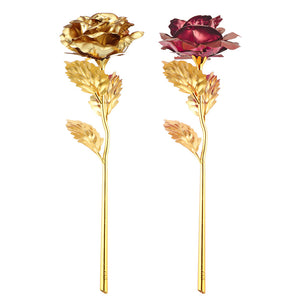 Gold Foil Plated Rose Dipped Rose Artificial Flower Creative Gift