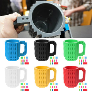 Creative Brick Puzzle Mug Coffee Cup Build-on Building Puzzle Toy Gifts