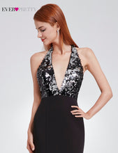Ever Pretty Dress Open Back Long Sequin Gown Deep V-Neck