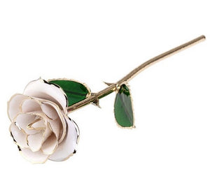 Blooming Flowers 24K Gold Plated Rose Romantic