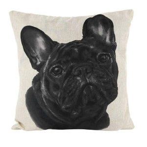 Funny Animal Dog Pattern Sofa Pillow Cover Cotton Decorative Pillows Cover
