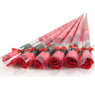5 PCS Fashion Beautiful Soap Rose Flower Teachers Day, Valentines Day Creative Gift