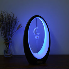 LED 5W Balance Table Lamp Soft Light Star Moon USB Romantic Night Light (Star Moon, Black)