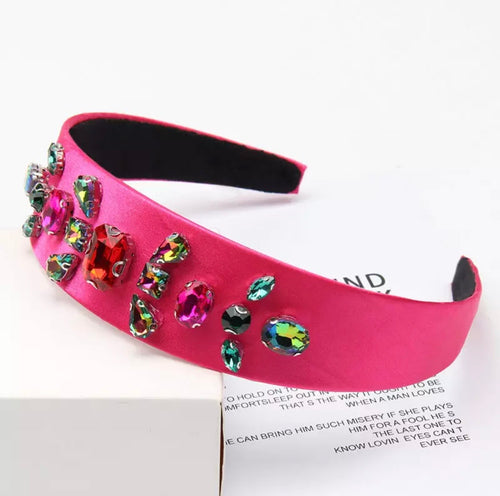 Fuschia Crystal Headband
