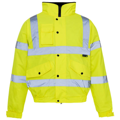 Supertouch Hi Vis Yellow Standard Storm Bomber Jacket (Small)