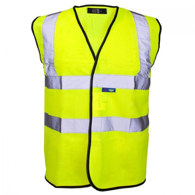 Supertouch Hi Vis Yellow Velcro Vest (Small)