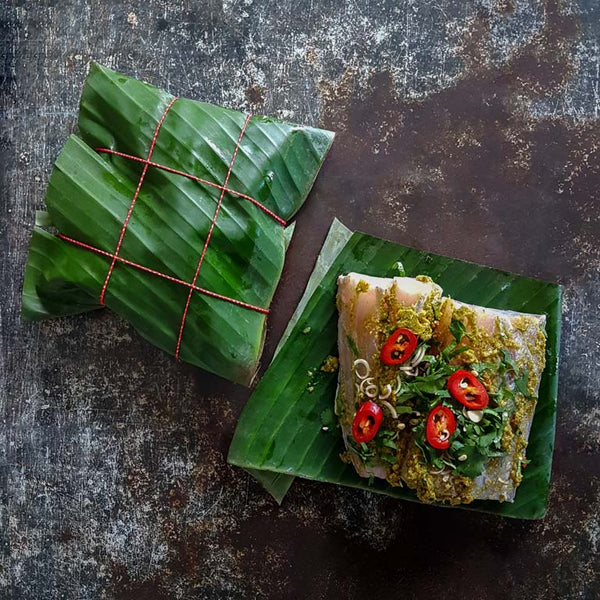 2x Banana Leaf Barramudi Parcels
